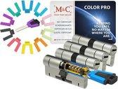 M&C Color PRO set van 4 cilinders 32/32 en 7 sleutels SKG3
