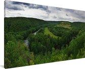 Panorama van het Nationaal park Podyjí in Tsjechië Canvas 160x80 cm - Foto print op Canvas schilderij (Wanddecoratie woonkamer / slaapkamer)
