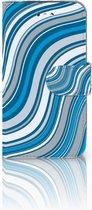 Hoesje Samsung S4 Design Waves Blue