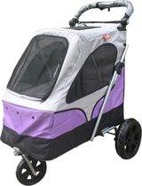Topmast Hondenbuggy wandelwagen honden buggie De Luxe 3 wielen Paars  87 * 66 * 110 cm