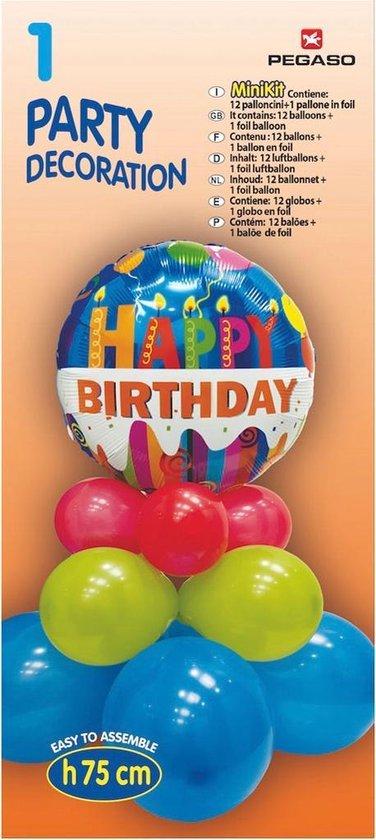 Pegaso Ballonnen-set Hart 70 Cm Rood/wit