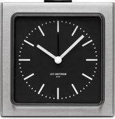 LEFF amsterdam  - Block Clock - Klok - Alarm - Staal/Zwart - Design - Staande Klok