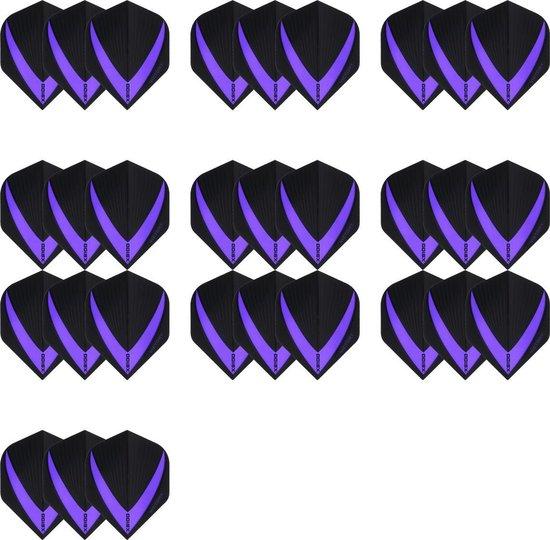 Afbeelding van het spel 10 sets (30 stuks) Super Sterke – Paarse - Vista-X – darts flights – Dragon darts