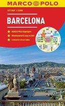 Barcelona Marco Polo City Map - pocket size, easy fold, Barcelona street map