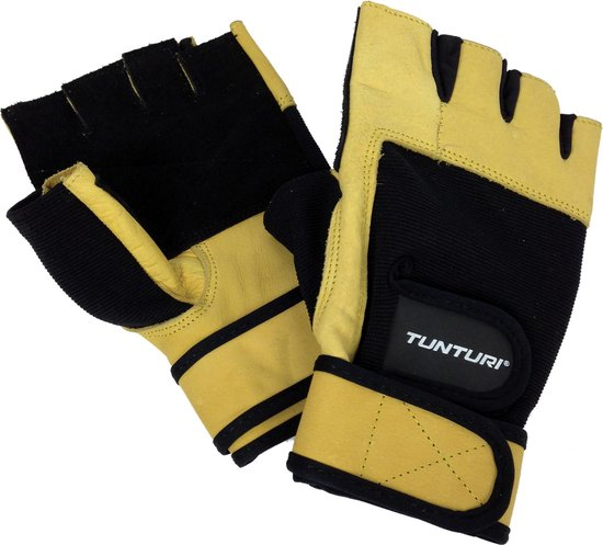 Tunturi High Impact - Fitness handschoenen - Sporthandschoenen - Leder - S