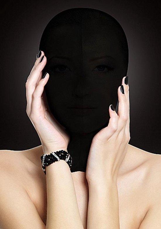 OUCH! Subjugatie Masker voor Complete Gezichts Bedekking Licht Transparant – Zwart