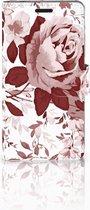 Bookcase Sony Xperia E3 Watercolor Flowers