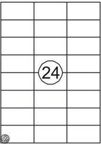 Benza Zelfklevende Etiketten op A4 Vel - 70 x 37 mm - 24 Stickers per vel - 10 vel