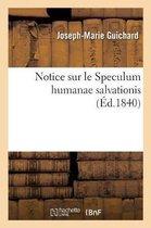 Notice sur le Speculum humanae salvationis