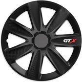 Wieldoppen 14 inch - GTX Carbon zwart - 4 stuks