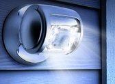 The Black Series Draadloze Led Buitenlamp Met Bewegingssensor - Zuinige LED's - Zilver