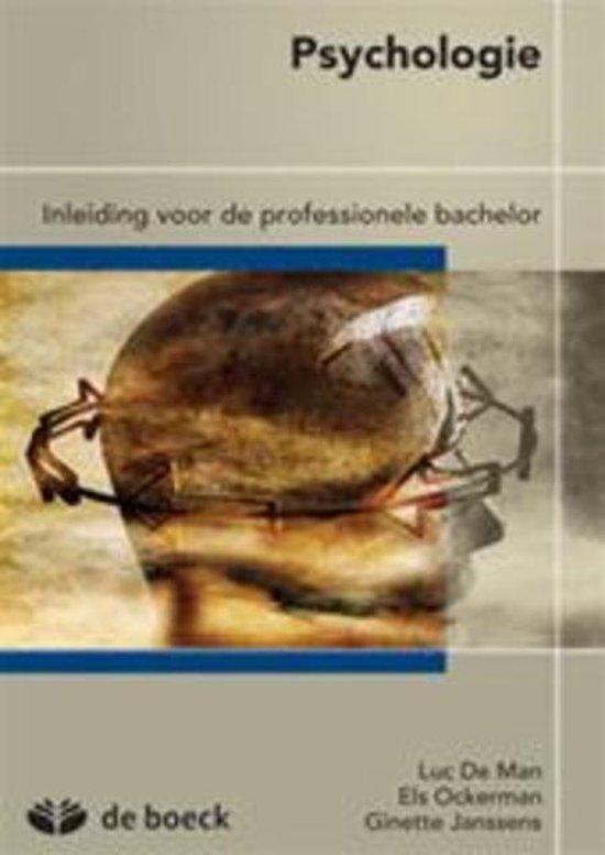 Psychologie: inleiding voor de professionele bachelor - Luc de Man |