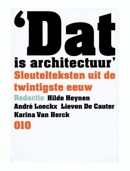 Dat is architectuur - none |