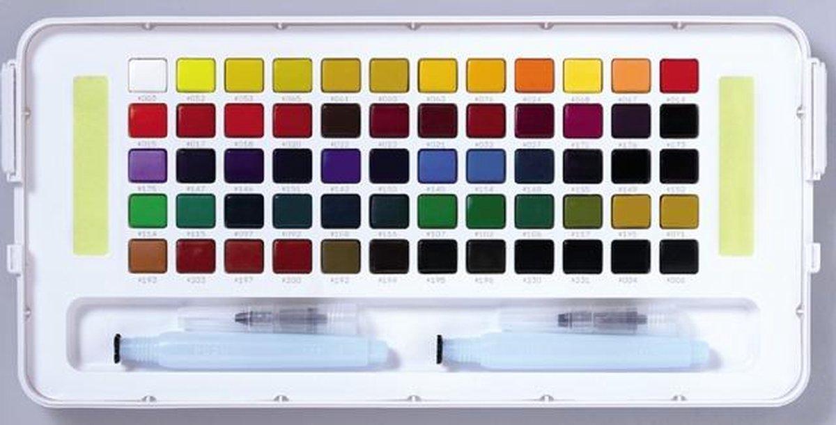 Sakura Koi aquarel pocketbox 60 napjes met brush pen (2x)