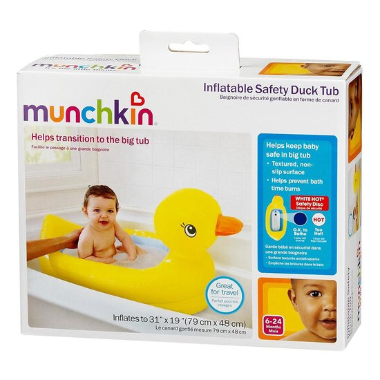 Munchkin opblaasbaar Babybadje - Geel