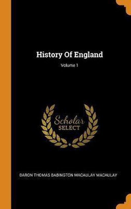 History of England; Volume 1