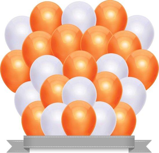 Ballonnen Set Metallic Oranje / Wit (20ST)