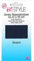 Restyle - Jersey Reparatiedoek Stretch - Strijkbaar -  12 x 45 cm - Marine