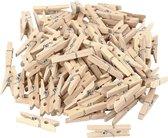 Wasknijpers, l: 30 mm, b: 3 mm, berkehout, 100stuks