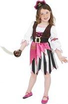Roze piraten kostuum voor meisjes 115-128 (4-6 jaar)