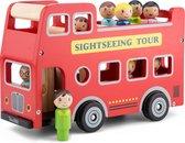 New Classic Toys Speelgoedvoertuig City Tour Bus - Inclusief Chauffeur en Acht Passagiers