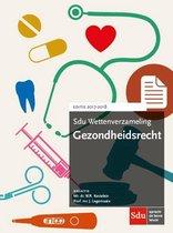 Boek cover Sdu wettenverzameling  -  Gezondheidsrecht 2017-2018 van W.R. Kastelein