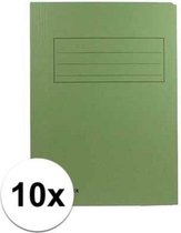 10x dossiermappen 24 x 35 cm groen