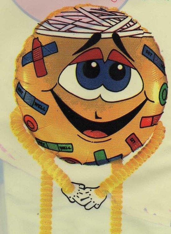 folieballon high stepper - Get Well - leeg