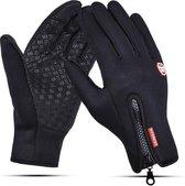 Handschoenen | touchscreen | waterdicht | fleece | unisex | zwart | maat XL