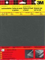 3M™ Schuurpapier Wetordry™, 9088CEEU, Zwart, P240/P400x2/P600, 4 vellen
