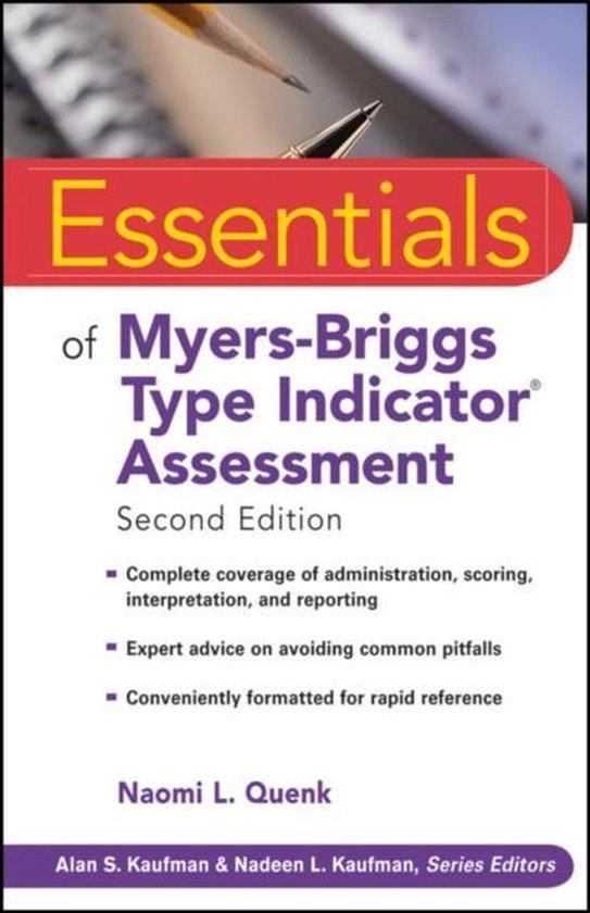 Boek cover Essentials of Myers-Briggs Type Indicator Assessment van Naomi L. Quenk (Paperback)