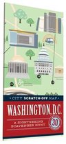 City Scratch-Off Map: Washington, D.C.