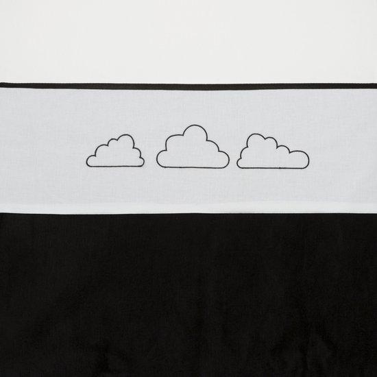 Meyco Clouds ledikantlaken - 100 x 150 cm - Zwart
