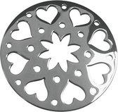 LOCKits 982500684 - Stalen munt - fantasie harten bloem - 25-1 mm - zilverkleurig