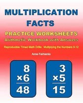 Multiplication Facts Practice Worksheets Arithmetic Workbook with Answers