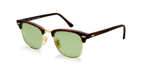 Ray Ban Clubmaster RB3016 114505 Zonnebril BruinGroen 49 mm