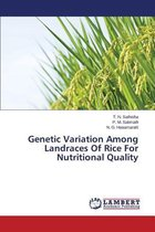 Genetic Variation Among Landraces of Rice for Nutritional Quality