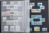 Postzegelinsteekalbum met 64 zwarte bladzijden - Basic S 64 blauw