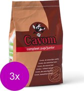 Cavom Compleet Pup/Junior - Rund & Vlees - Hondenvoer - 3 x 5 kg