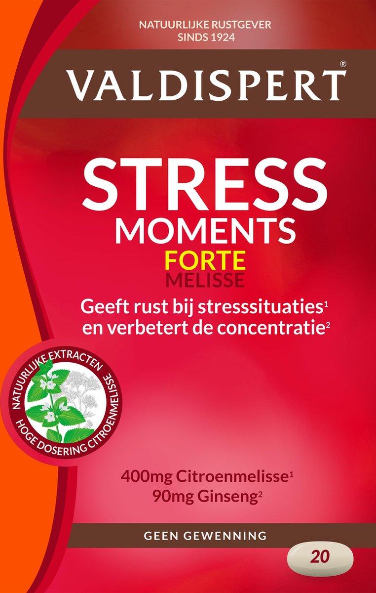 Valdispert Stress Moments Forte - Valeriaan, Citroenmelisse & Ginseng - 20 tabletten - Natuurlijke r