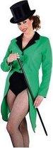 Groene lange slipjas voor dames M (40-42)