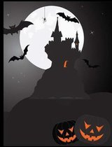 Halloween Composition Book 100 Sheets (200 Pages) 7.44 X 9.69 Inches/ 18.9 X 24.61 CM