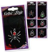 Halloween - Zilveren spinnen ketting voor halloween of heksen