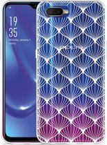 Oppo RX17 Neo Hoesje White Abstract Pattern