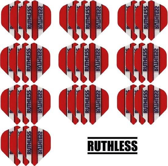 Dragon darts - 10 Sets (30 stuks) - Ruthless - sterke flights - Rood - darts flights
