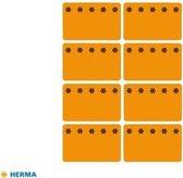 Herma Diepvriesetiketten 26x40mm Fluor-Oranje 48 stuks