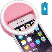 Oplaadbare Selfie Ring Light Case: Roze - Lumee Style: Perfecte Selfies in het Donker Trendfield.nl