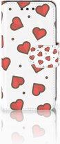 Samsung Galaxy S4 Mini i9190 Wallet Book Case Hoesje Design Hearts