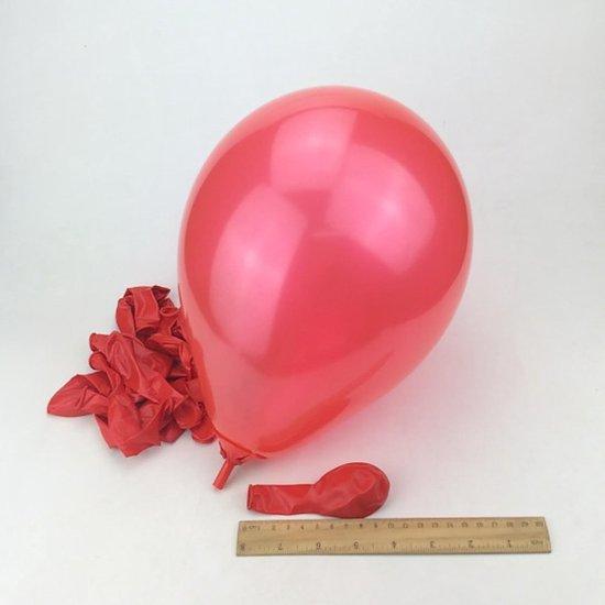 40 Stuks Stevige Ballonnen 23cm - Rood - Feest - Verjaardag - Ballon - Jarig - Party - Multipack - Groot - Glans - Mooi