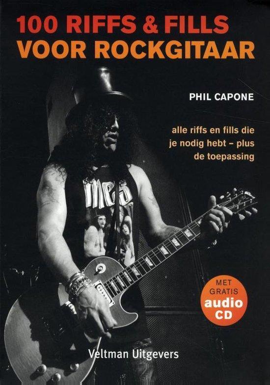 Cover van het boek '100 riffs & fills voor rockgitaar' van Phil Capone